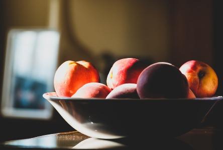 Gesundes Leben mit Pfirsichen